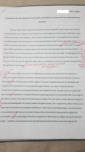2018 - Bethany College - Modern History - sample of paper