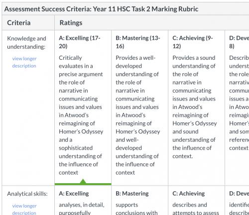 2020 - 17/20 - Trinity Grammar - English Advanced - essay